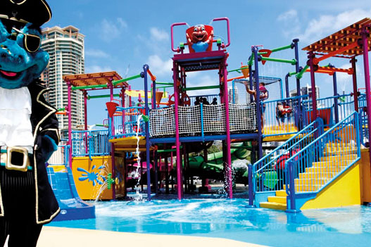 Water park at Paradise resort kids hotel gold coast QLD